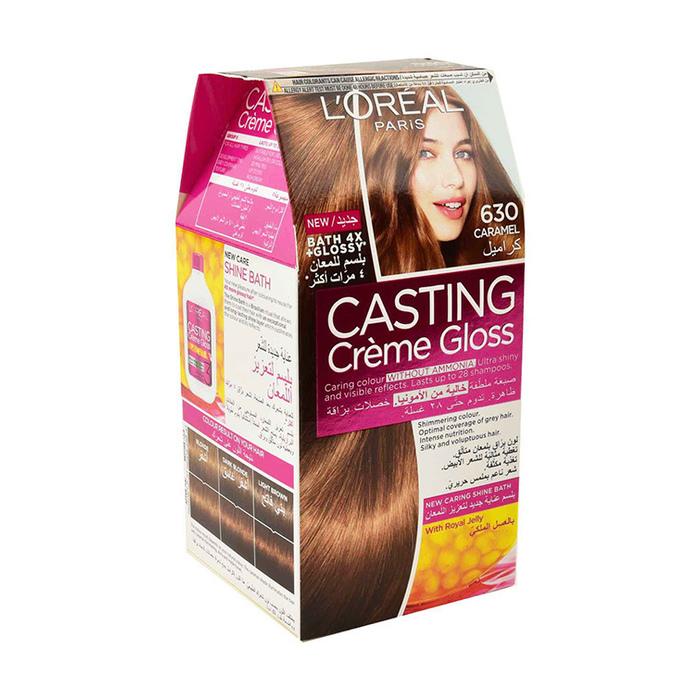 لوريال باريس صبغة شعر بتركيبة كريمية 630 كراميل Upc 3600521230367 أسواق كوم