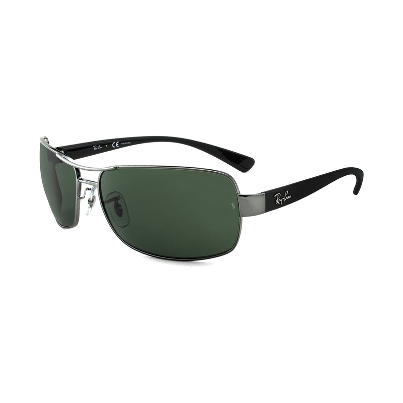 96be523febf ... purchase ray ban rb3379 rectangle sunglasses for men green lens 458  64mm upc 805289218746 aswaq 76df7