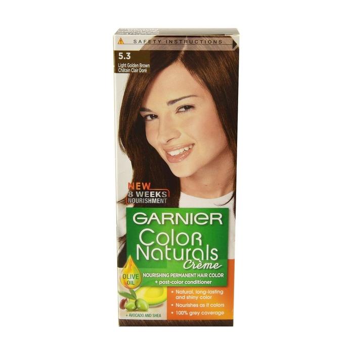 غارنييه كولور ناتشرلز صبغة مغذية للشعر بتركيبة كريمية 5 3 بني فاتح ذهبي Upc 3061375781205 أسواق كوم