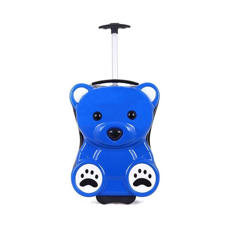 91198f7227b51 ريتش آند فيموس حقيبة سفر بعجلات بشكل الدب للأطفال، أزرق، RF-400 - UPC   5961931456081