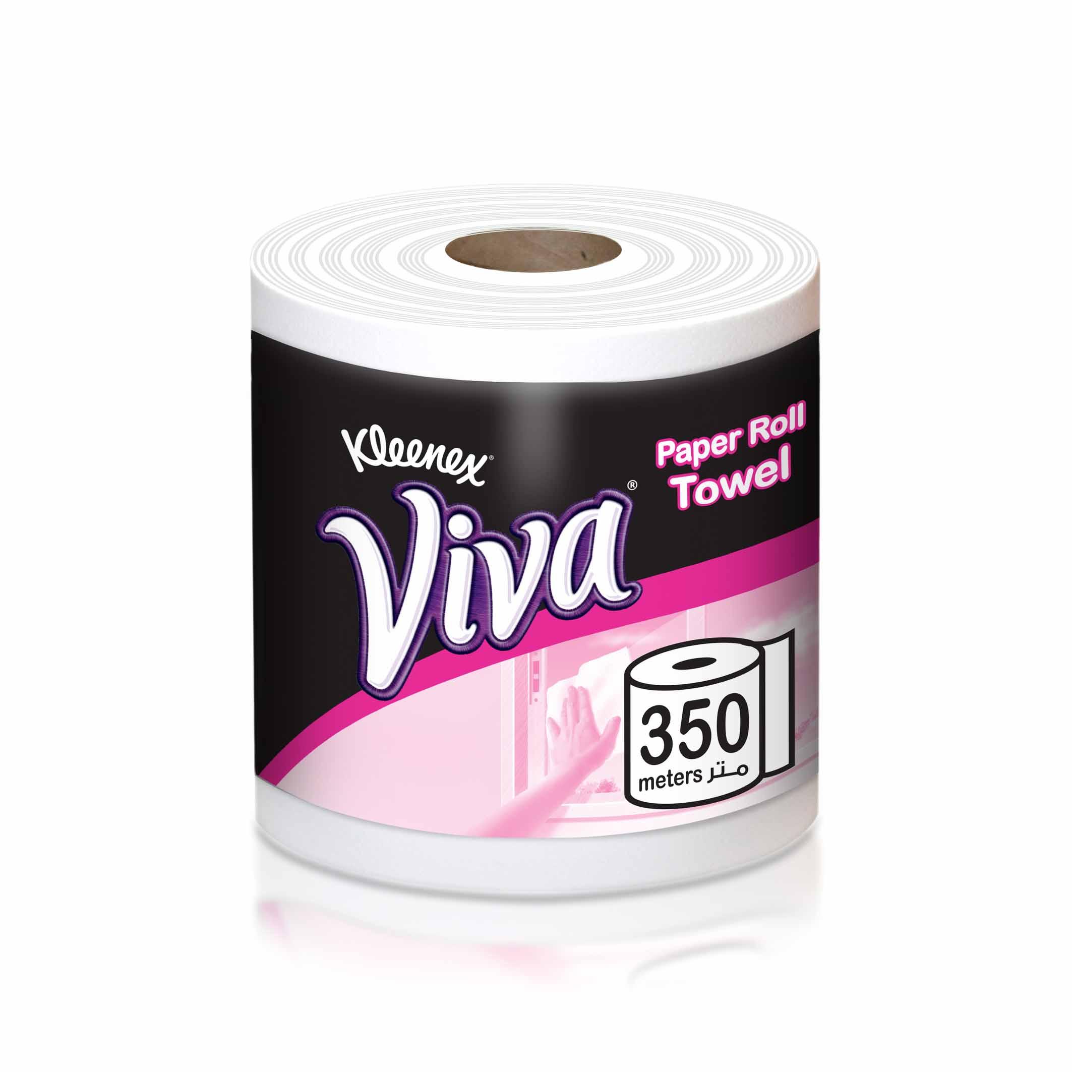 Kleenex Viva House Hold Tissue Maxi Embossed Roll, 350M - UPC ...