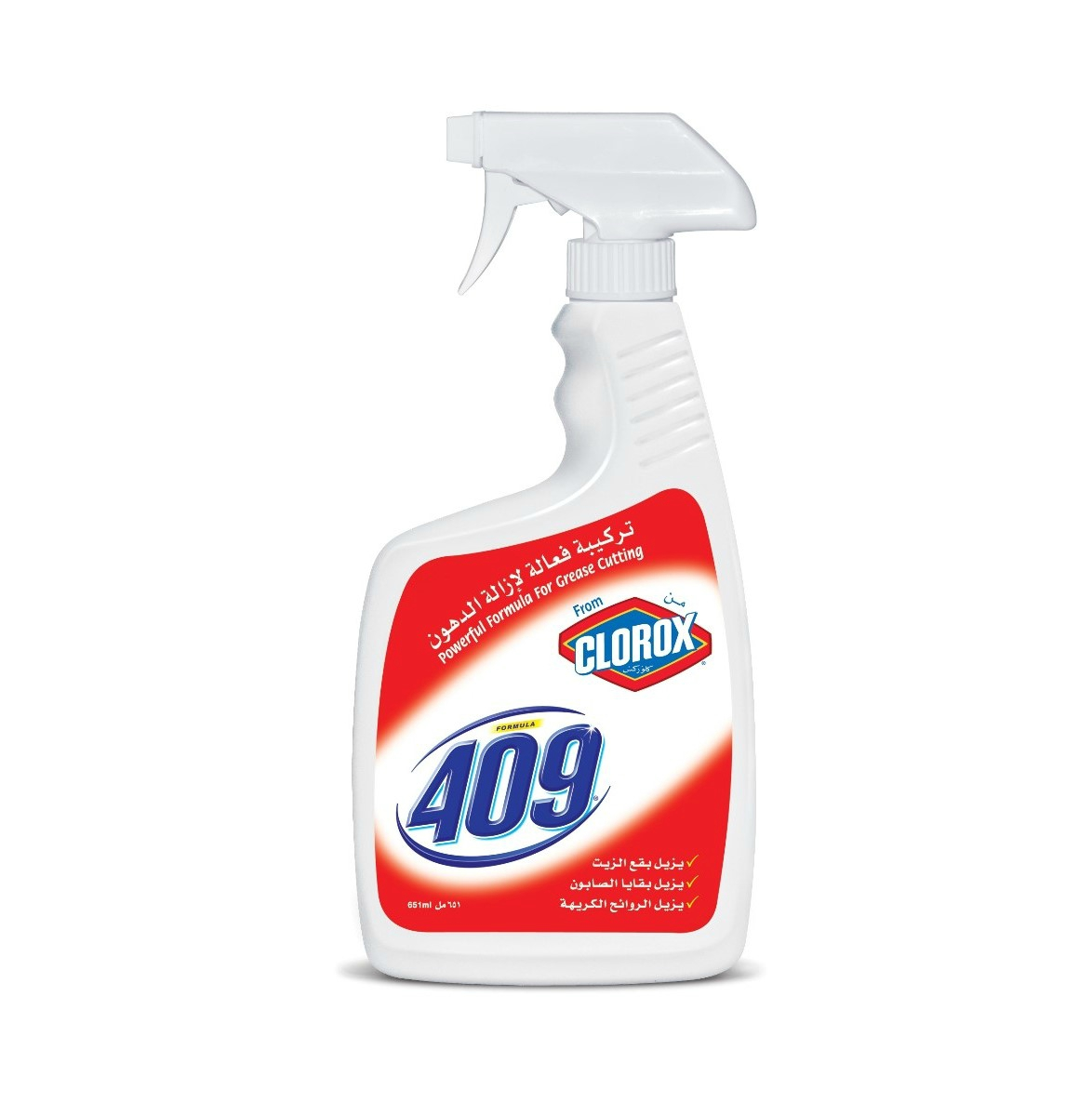 Clorox Formula 409 Cleaner Degreaser Disinfectant Spray, 651ml - UPC:  6281065006518 | ASWAQ.COM