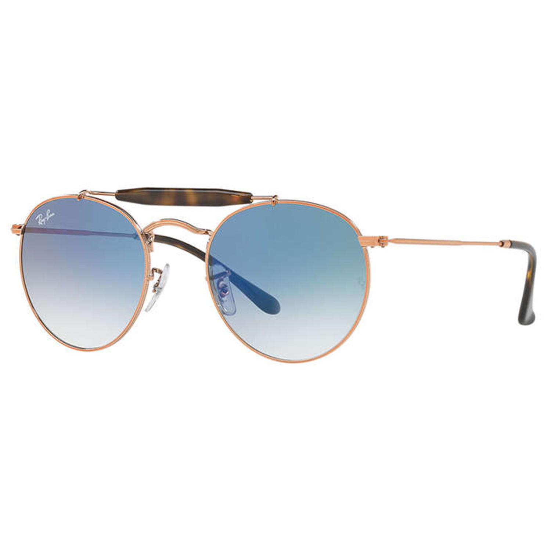 5097d96c2 راي-بان نظارات شمسية RB3747 دائرية الشكل للجنسين، عدسة لون أزرق، 90353F-50  - UPC: 8053672797121 | أسواق.كوم