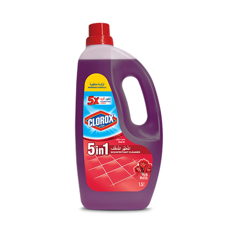 Clorox Liquid Floor Cleaner Disinfectant 5 In 1 Roses Scented