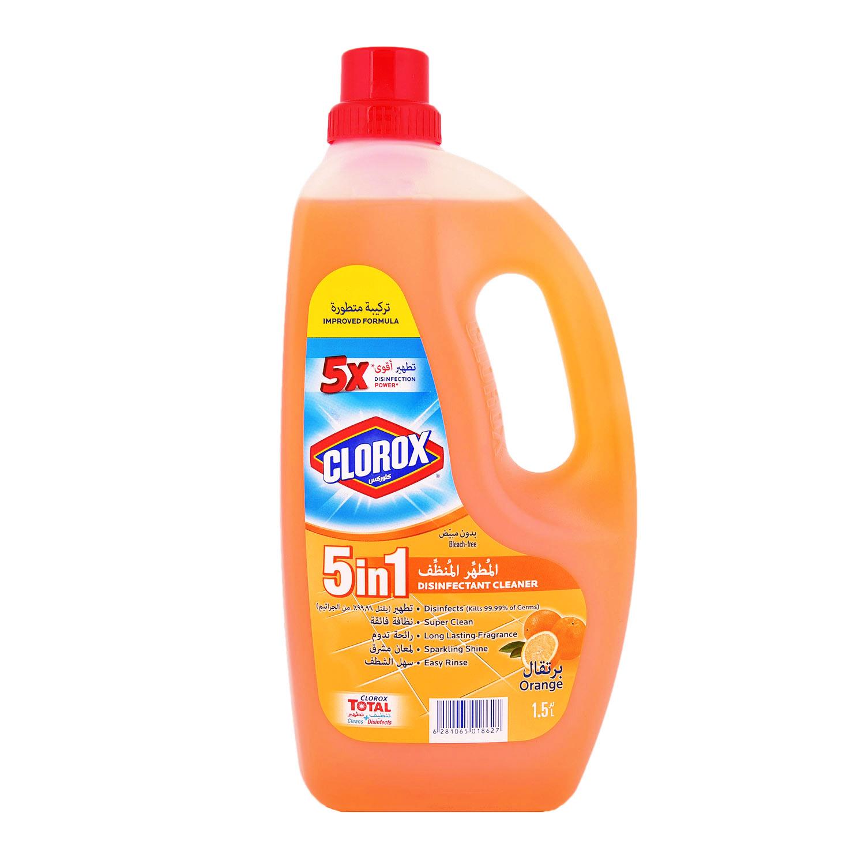 Clorox Liquid Floor Cleaner Disinfectant 5 In 1 Oranges Scented